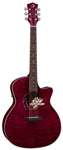 Luna Flora Lotus Quilt Maple Acoustic Electric Guitar