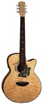 Luna FAUBTFLY Fauna Butterfly Acoustic Electric Guitar