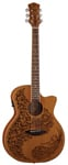 Luna Henna Paradise Acoustic Electric Guitar
