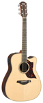 Yamaha A3 Cutaway Acoustic Electric Guitar with Case