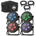 American DJ Mega Flat Tri Pak Plus Stage Lighting System