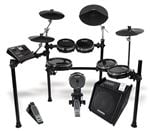 Alesis DM10 Studio Kit Professional Six Piece Electronic Drum Set Bundle With TransActive Drummer Floor Monitor