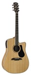 Alvarez AD90CE Dreadnought Acoustic Electric Cutaway Guitar Natural