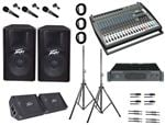 AMS Behringer Peavey Tour Portable PA Systems