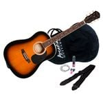 Arcadia DL38 38 Inch Acoustic Guitar Pack Tobacco Sunburst