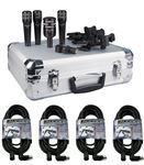 Audix DP4 4 Piece Drum Microphone Kit With CBLDR25 Cables Promo