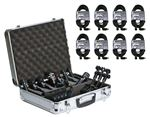 Audix DPElite 8 Eight Mic Drum Pack With Cables Case And Clamps