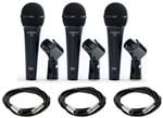 Audix f50 Dynamic Cardioid Handheld Vocal Mic 3 Pack With Cables