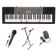 Casio LK165 61 Key Lighted USB Keyboard Vocalist Package