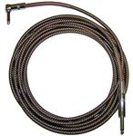 CBI BR10 Braided Guitar Instrument Cable 10 Foot Vintage Tweed Rt Ang