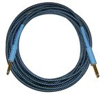 CBI BR15 Braided Guitar Instrument Cable 15 Foot Blue