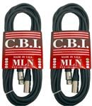CBI MLN Microphone Cable 20 Foot 2 Pack