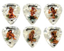 Clayton Hula Hottie Medium Guitar Picks 12 Pack