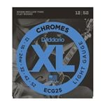 D'Addario ECG25 XL Chromes Flatwound Electric Guitar Strings 12-52