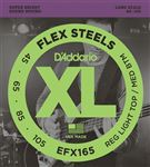 D'Addario EFX165 FlexSteels Roundwound Bass Guitar Strings 45-105
