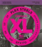 D'Addario EFX170 FlexSteels Roundwound Bass Guitar Strings 45-100