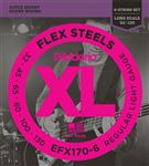 D'Addario EFX170-6 FlexSteels Roundwound 6-String Bass Guitar Strings