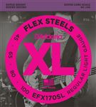 D'Addario EFX170SL FlexSteels Roundwound Bass Guitar Strings 45-100