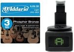 DAddario EJ16 Phosphor Bronze Strings - 3 Pak with Tuner