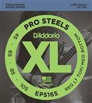 D'Addario EPS165 XL ProSteel Electric Bass Guitar Strings RLTMB 45-105