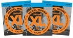 D'Addario EXL110 XL Nickel Wound Electric Guitar Strings 10-46 3 Pack