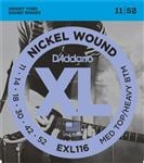D'Addario EXL116 XL Nickel Wound Electric Guitar Strings 11-52