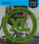 D'Addario EXL117 XL Nickel Wound Electric Guitar Strings 11-56