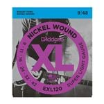 D'Addario EXL120 XL Nickel Wound Electric Guitar Strings 9-42