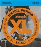 D'Addario EXL140 XL Nickel Wound Electric Guitar Strings 10-52