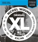 D'Addario EXL148 XL Nickel Wound Electric Guitar Strings 12-60