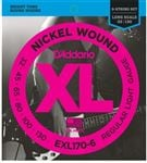D'Addario EXL170-6 XL Nickel Wound 6 String Bass Guitar Strings 32-130