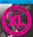 D'Addario EXL170S XL Nickel Wound Bass Guitar Strings Light 45-100