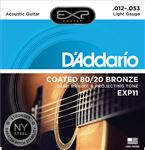 D'Addario EXP11 Coated 80/20 Bronze Acoustic Guitar Strings 12-53
