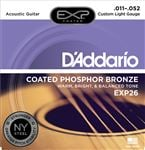 D'Addario EXP26 Coated Phosphor Bronze Acoustic Guitar Strings