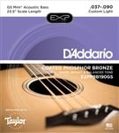 D'Addario EXPPBB190GS Coated Taylor GS Mini Bass Guitar Strings