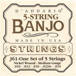DAddario Nickel Wound Banjo Strings