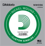 Daddario NYNW056 NYXL Single Nickel Wound Guitar String .056