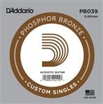 DAddario PB039 Phosphor Bronze Wound Single Acoustic Guitar String