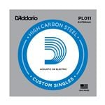D'Addario PL011 Plain Acoustic or Electric Guitar String