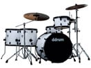 Ddrum Journeyman Rambler 22 5 Piece Drum Set with Hardware White
