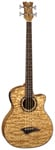 Dean Exotica Quilt Ash Aphex Acoustic Electric Bass Guitar Natural