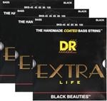 DR K3 Black Beauties BKB-45 Bass Guitar Strings-3 Pack