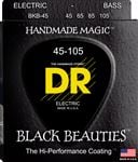 DR Strings BKB45 Black Beauties Coated Bass Strings Medium 45-105
