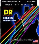 DR K3 Neon Hi-Def Multi-Color Electric Guitar Strings