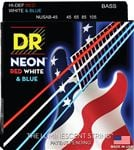DR Strings NUSAB-45 USA Flag NEON Bass Strings