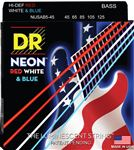 DR Strings NUSAB5-45 USA Flag NEON 5-String Bass Strings