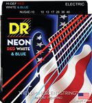 DR Strings NUSAE USA Flag NEON Electric Guitar Strings