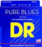 DR Strings PB45 Pure Blues 4 String Bass Guitar Strings 45-105
