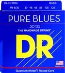 DR Strings PB6 30 Pure Blues Bass Guitar Strings 13 125 6 String