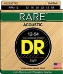 DR Strings RPM12 Rare Bronze Acoustic Guitar Strings 12-54